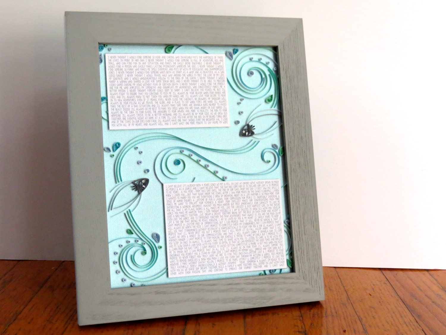 Wedding Vows Gift: First Anniversary Gift Wedding Vows Gift For Her Gift