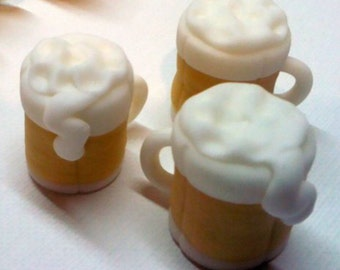 Beer Mug Fondant Cupcake Toppers