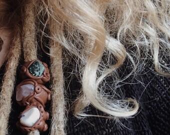 Dreadlock gemstone Dreadperlen beads polymer clay