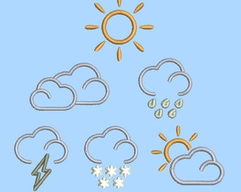 Weather designs - 6 designs in pack - Instant Download