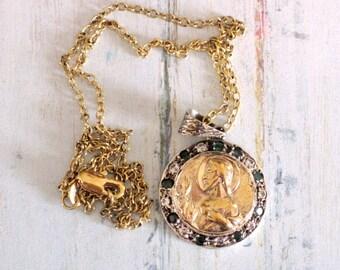 Religious Necklace, Pendant Necklace, Religious Jewelry, catholic jewelry, catholic gifts, christian jewelry, christian necklace
