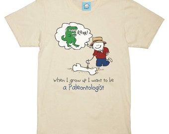 When I grow up I want to be a Paleontologist Jersey Tee