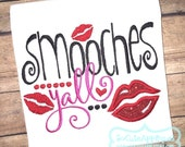 Embroidery design 5x7 6x10 Smooches yall, Embroidery saying, applique heart, socuteappliques, Key, Valentines day, Mothers Day
