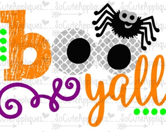 SVG, DXF, EPS cutting file, Boo yall, Ghost spooky svg, Halloween svg, socuteappliques, silhouette file, cameo file, scrapbooking file