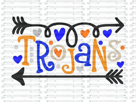 Trojans Fun Arrows Svg Socuteappliques Svg Sayings
