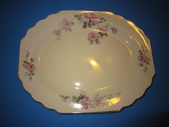 Vintage Serving Platter Lido W S George Canarytone Serving