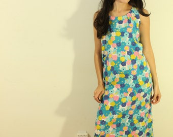 1960s Floral Day Dress