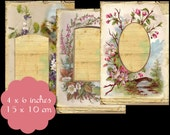 6 Vintage Photo Page Tags