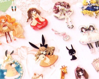 Cute Sweet Lolita Stickers 1 Sheet