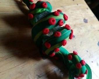 Octopus Love Craft Cthulu Kracken Crystal Necklace