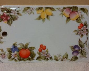 Andrea by Sadek Fruit/Blossoms Porcelain Cheese Board