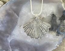 Sea Scallop Silver Pendant