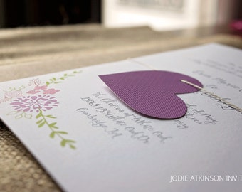 Spring Fling Wedding Invitation - DEPOSIT