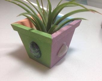 Gemstone painted planter