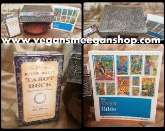 Tarot Dream Catcher Box  with Tarot Bible & Original Rider Waite Tarot Cards - Brilliant gift for a beginner or Advanced