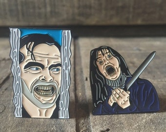 The Shining Enamel Pin Set, Jack Torrance, Wendy Torrance