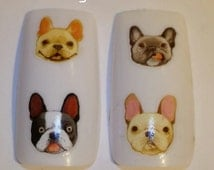 Nail Art Water Transfer- French Bulldog Decal #463NP BLE2297 Sticker Wrap