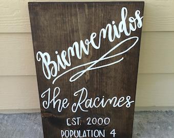 Bienvenidos, Bienvenidos Sign, Welcome Sign, Entry Sign , Home Sign, Wood Sign, Home Decor, Rustic Home Decor, Welcome Home Sign