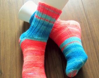 Hand knitted Socks for Women. Size 8-9. Regia Yarn.