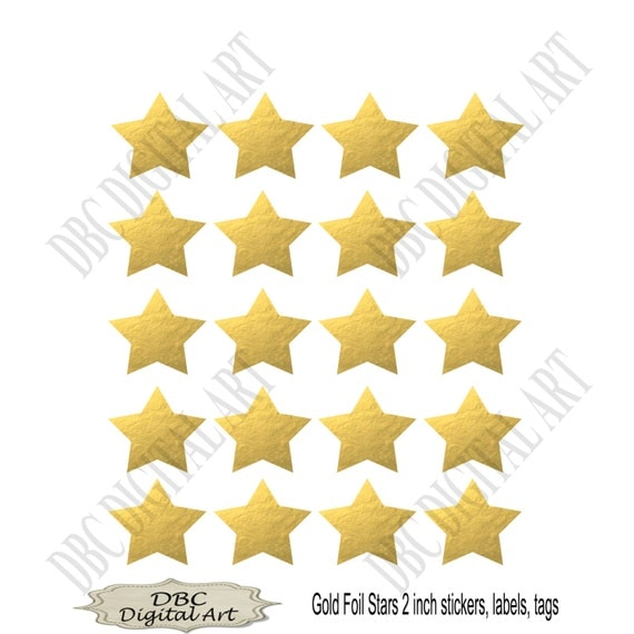 items similar to star stickers  printable gold stickers