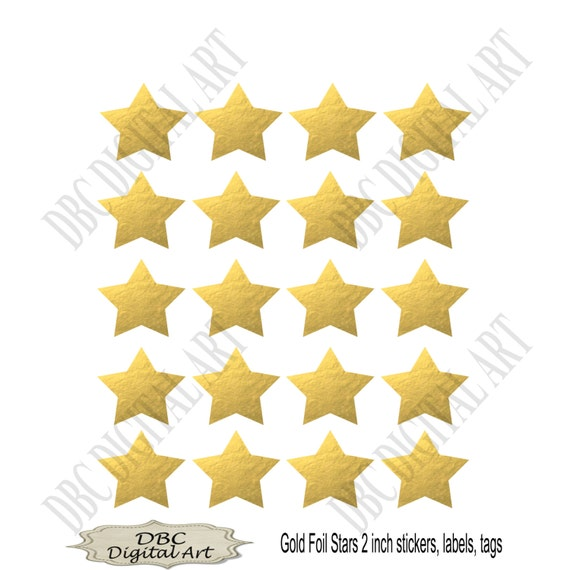 Star stickers printable gold stickers gold star labels gold star