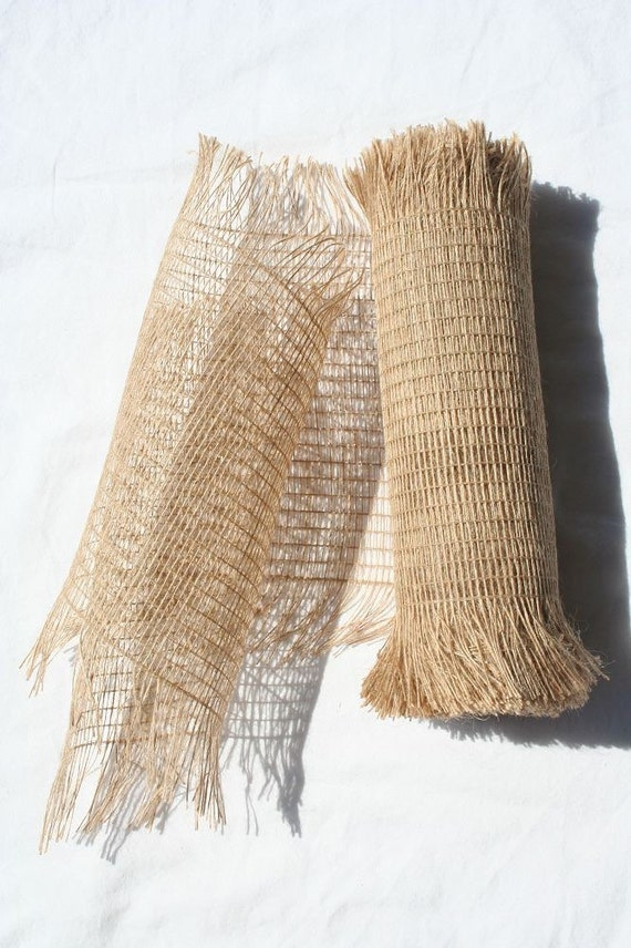 10 Frayed Jute Mesh Burlap Mesh Jute Mesh By Customwreathdecor