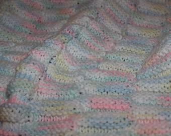 Baby Afgan, Hand Knitted Baby Afgan, Baby Blanket