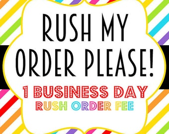 Rush my order - one per pair - can not be combied with any discounts!!!