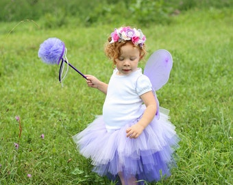 Girls Flower Fairy Costume - Sugar Plum Fairy Costume - Purple Fairy Costume - Flower Fairy Costume - Childrens Fairy Costume - Fairy Tutu
