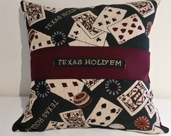 Texas Hold'em Man Room Pillow