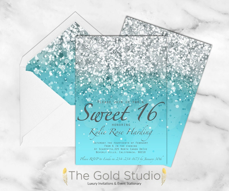 Invaluable image pertaining to printable sweet 16 invitations