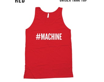 Hashtag Machine - Workout Tank Top, Wedding Workout Clothes, Gym Tank, Running Shirt, Womens Workout Shirt, Summer Workout Tank Top  CT-276