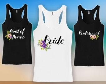 Bachelorette Tank Top - Bachelorette Party Shirts,bridesmaid matching t-shirts,wedding day getting ready tank tops, Bridesmaid tshirt CT-529