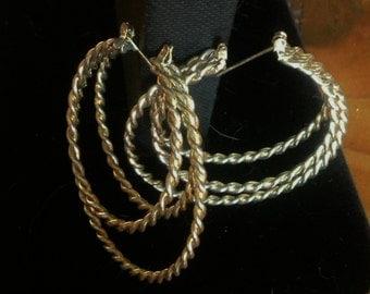 Vintage 70's Style Hoop Earrings