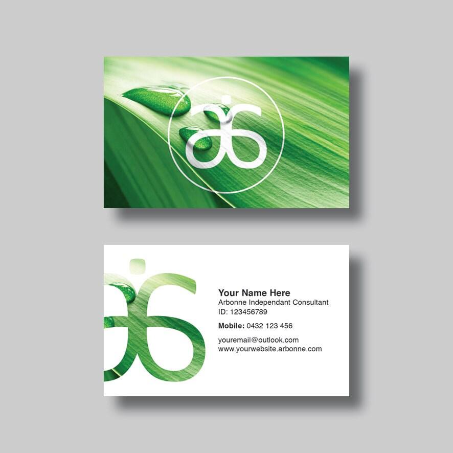 Arbonne Business Card Leaf Digital Design