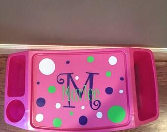 personalized custom lap tray children's plastic lap desk