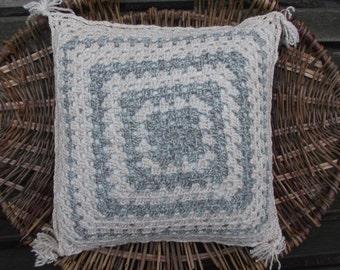 Cushion Handspun and Hand Crocheted