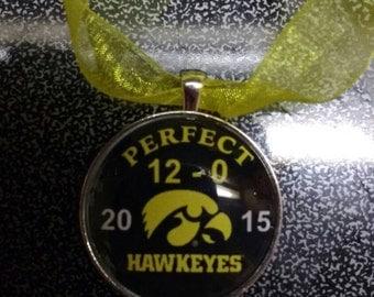 Iowa Hawkeyes Perfect 12-0 2015 NCAAF Football Ornament