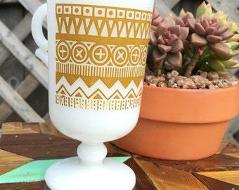Vintage Milk Glass Mug