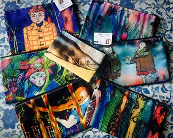 Zippered Pencil/Gadget/Cosmetic Bags