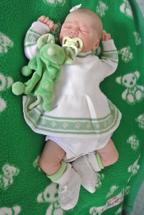 Vintage Baby girl diaper dress romper new old knitted by ...