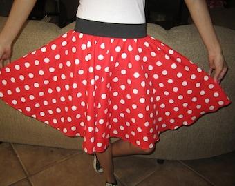 Custom sized Minnie Mouse Skirt