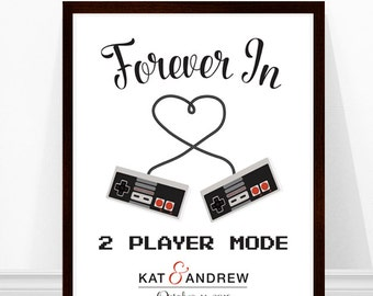 Video Game Wedding, Geek Wedding, Gaming art, Gift for Wedding, Gaming ...
