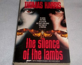 SILENCE OF The LAMBS Paperback Book 1980 Movie tie-in Thomas Harris Hannibal Lecter Serial Killer