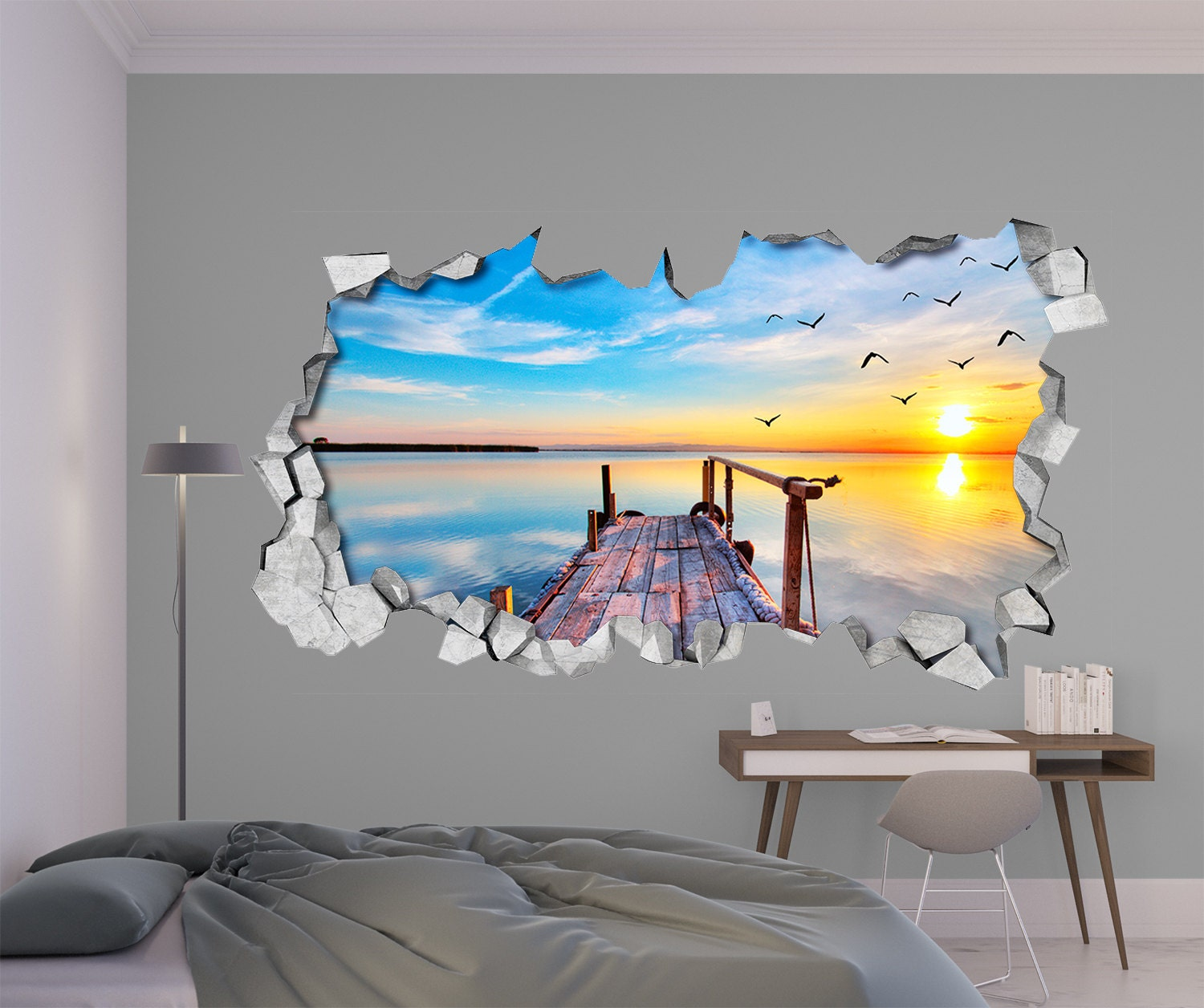 Wallpaper Decal: Broken Wall Decal 3d Wallpaper 3d Wall Decals 3d Printed