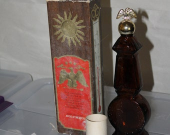 Vintage Avon Fragrance, Cologne, Also Used as a Weather Station w Barometer and Thermostat w Eagle on Top, It Comes With Original Box
