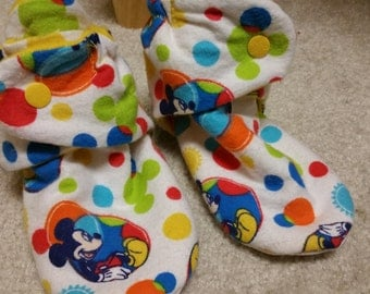 6.25 inch fit,  Mickey Mouse booties, Mickey Mouse slippers