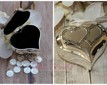 Wedding Arras, Wedding Ring Box,  Arras de Boda, Unity Coins, Treasurer Chest Wedding Arras, Silver Wedding Arras, 13 wedding Unity Coins