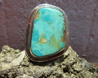 Adjustable ring silver, 925 with turquoise