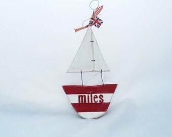 Personalised Sail Boat